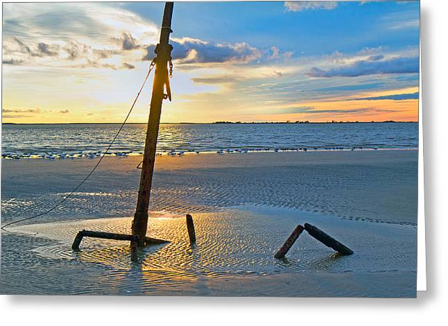 Ship-wreck Greeting Cards - Remnants of the Past Greeting Card by Betsy C  Knapp