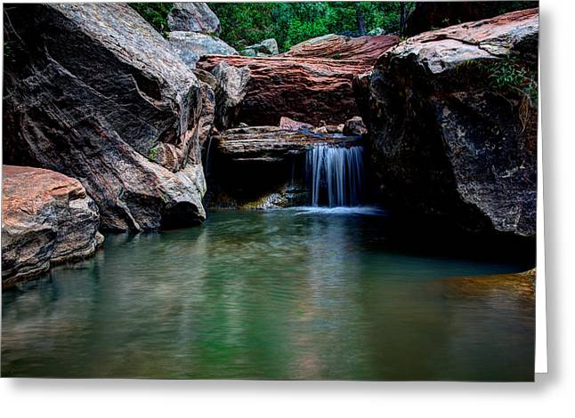 Zion National Park Greeting Cards - Remote Falls Greeting Card by Chad Dutson