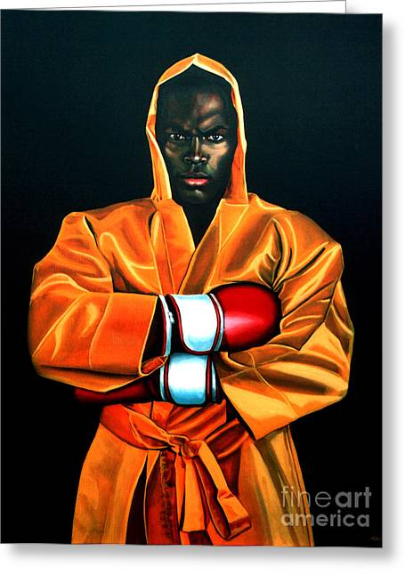 Black Man Paintings Greeting Cards - Remy Bonjasky Greeting Card by Paul  Meijering