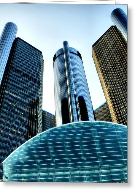 Ren Cen Greeting Cards - Ren-Cen Greeting Card by Mike and Virginia Gronley