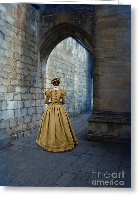 Ball Gown Greeting Cards - Renaissance Lady Greeting Card by Jill Battaglia