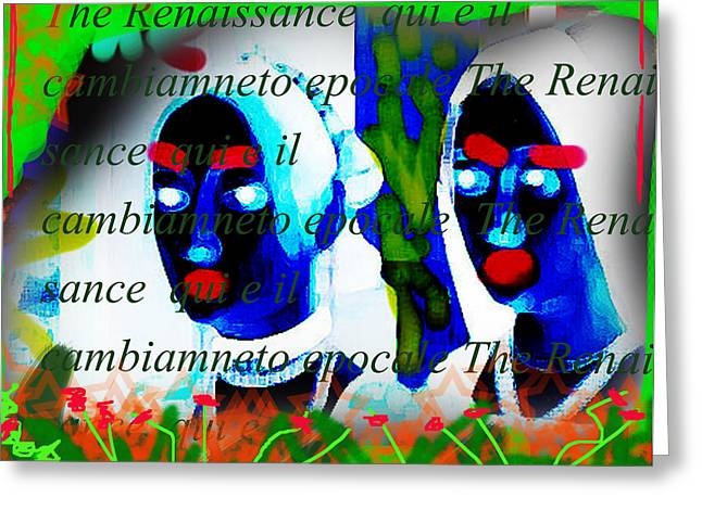Flavius Greeting Cards - Renaissance Lips  Greeting Card by Paul Sutcliffe