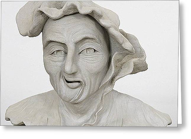 Sculpt Sculptures Greeting Cards - Renaissance Man Greeting Card by Ruth Edward Anderson