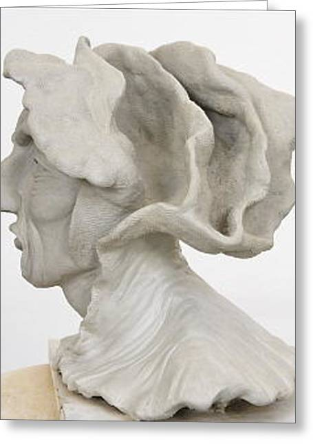Commission Sculptures Greeting Cards - Renaissance Man Side View Greeting Card by Ruth Edward Anderson