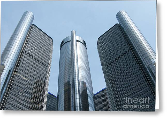 Renaissance Towers Greeting Card by Ann Horn