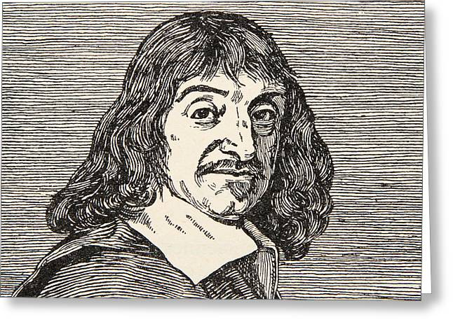 Portraits Drawings Greeting Cards - Rene Descartes Greeting Card by French School