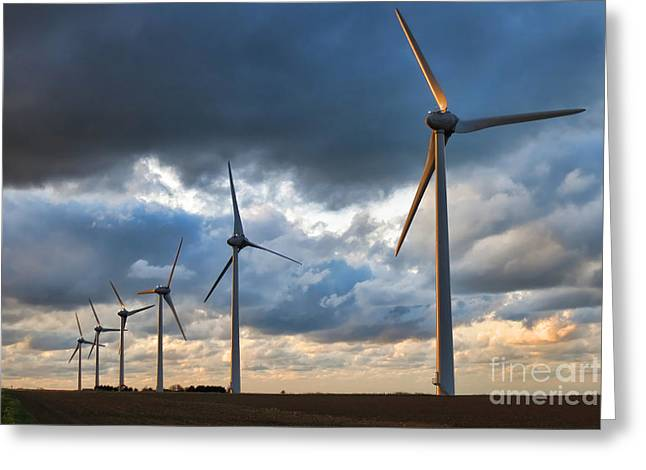 Generators Greeting Cards - Renewable Energy Greeting Card by Olivier Le Queinec