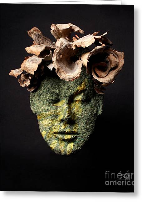 Face Reliefs Greeting Cards - Renewal Greeting Card by Adam Long