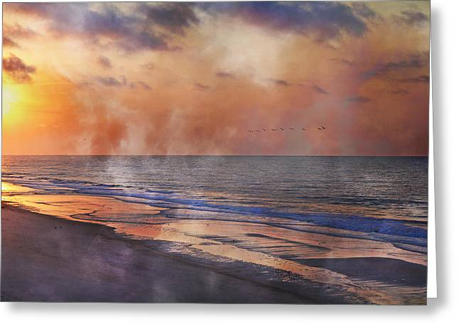 Topsail Island Greeting Cards - Renewed Greeting Card by Betsy A  Cutler