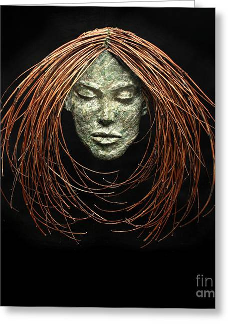 Face Reliefs Greeting Cards - Renewed Solace Greeting Card by Adam Long