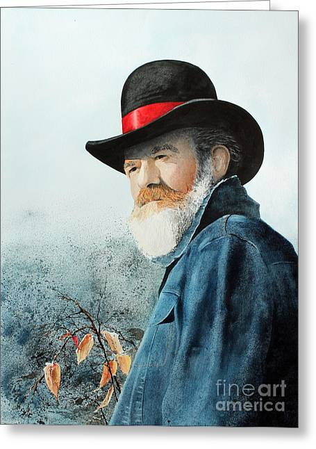 Worn In Paintings Greeting Cards - Renfro Greeting Card by Monte Toon