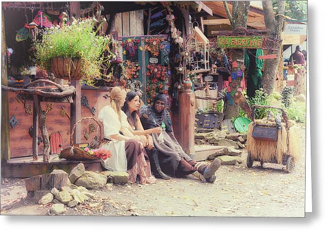 Faire Greeting Cards - Renn Faire Greeting Card by Wade Aiken
