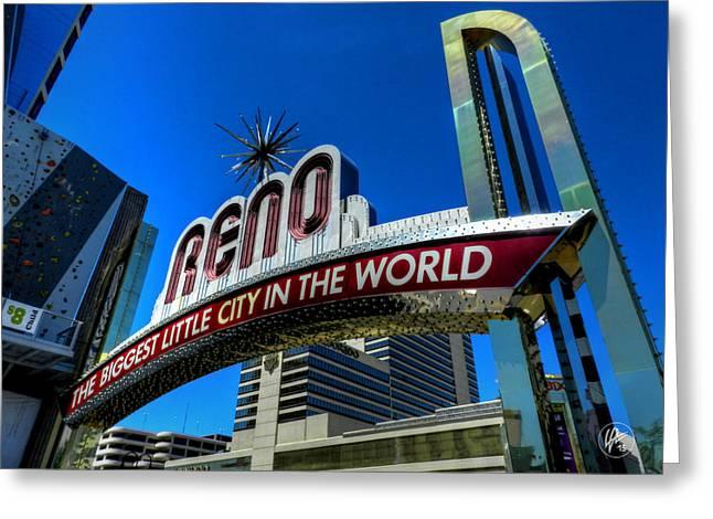 El Dorado Greeting Cards - Reno Arch  Greeting Card by Lance Vaughn