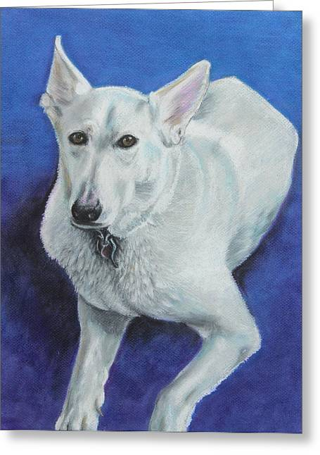 Doggy Pastels Greeting Cards - Reno Greeting Card by Jeanne Fischer