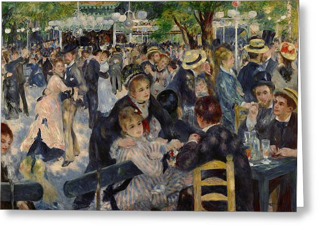 Carousel Collection Greeting Cards - RENOIR MOULIN de GALETTE Greeting Card by Granger