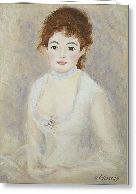 Renoir Pastels Greeting Cards - Renoirs Lady Greeting Card by Marna Edwards Flavell