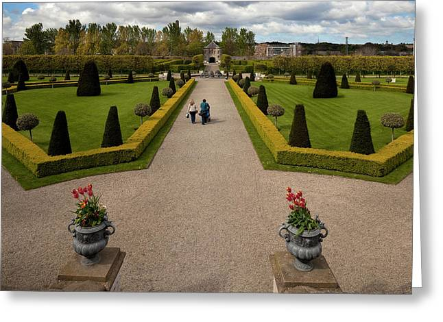 Renovated Formal Gardens At The Museum Greeting Card by Panoramic Images