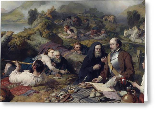 Hiding Greeting Cards - Rent-day In The Wilderness, 1868 Oil On Canvas Greeting Card by Sir Edwin Landseer