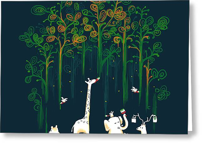 Repaint the forest Greeting Card by Budi Kwan