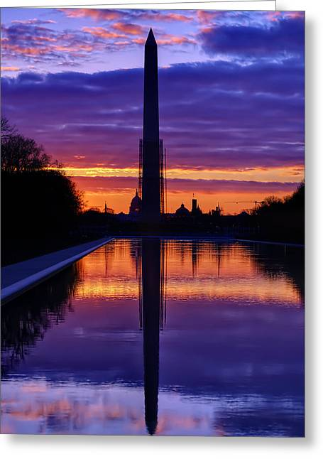 Repairing The Monument IIi Greeting Card by Metro DC Photography
