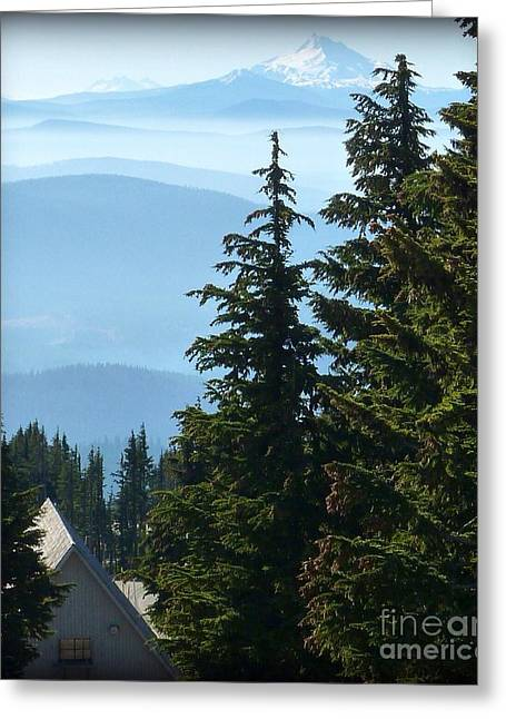 Wall Art For Your Home Or Office Greeting Cards - Repeat Peaks Greeting Card by Susan Garren
