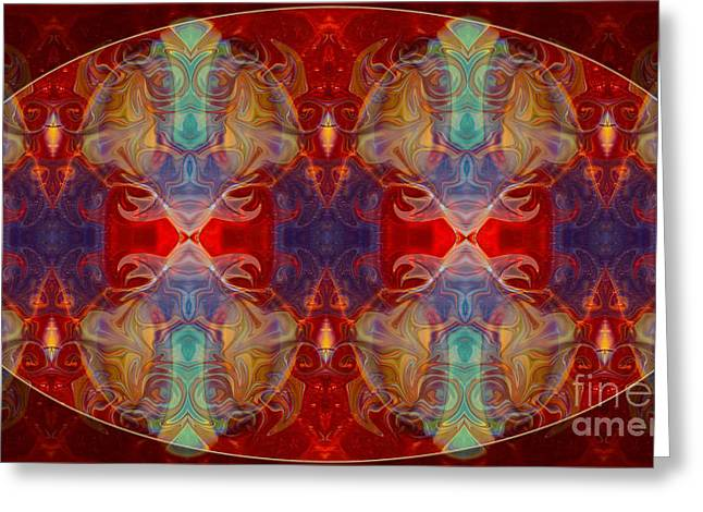 Repeating Realities Abstract Pattern Artwork By Omaste Witkowski Greeting Card by Omaste Witkowski