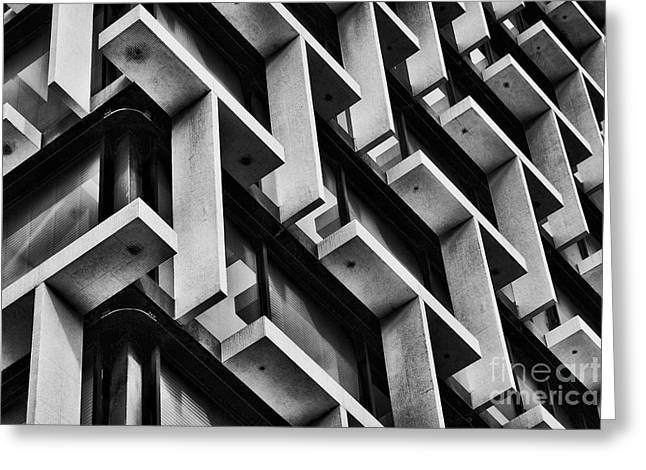 City Trip Greeting Cards - Repetition of T III Greeting Card by Hideaki Sakurai