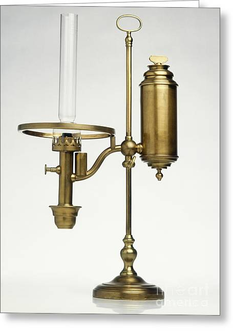 Replica Of Oil Lamp Greeting Card by Dave King / Dorling Kindersley / Science Museum, London