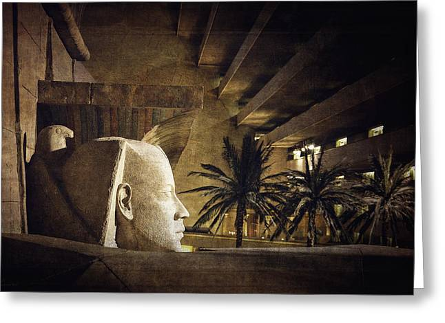 Pharaoh Digital Art Greeting Cards - Replica Of The Past  Greeting Card by Maria Angelica Maira