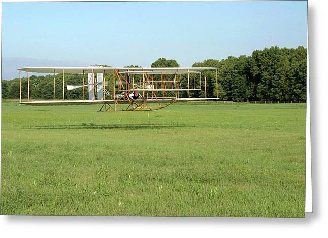 Replica Wright Flyer Greeting Card by National Park Service/us Department Of Energy