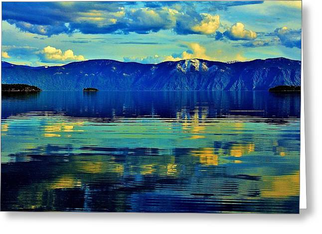 Sandpoint Greeting Cards - Repose Greeting Card by Benjamin Yeager