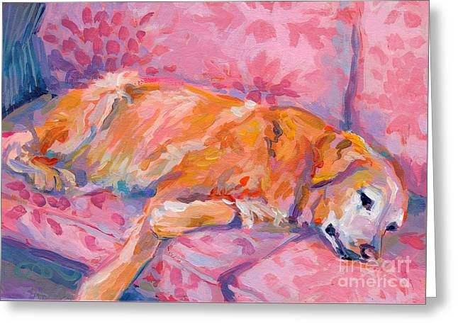 Old Dogs Greeting Cards - Repose Greeting Card by Kimberly Santini