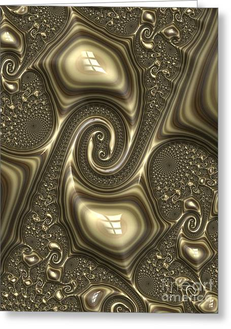 Embossed Greeting Cards - Repousse in Bronze Greeting Card by John Edwards
