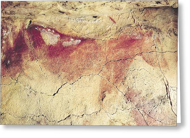 Murals Greeting Cards - Representation Of An Animal, C.15000 Bc Cave Painting Greeting Card by Prehistoric