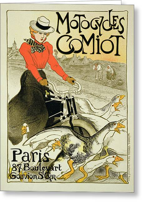 Advertisement Greeting Cards - Reproduction Of A Poster Advertising Greeting Card by Theophile Alexandre Steinlen