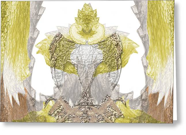 Flow Greeting Cards - Reptile King Greeting Card by Christopher Gaston