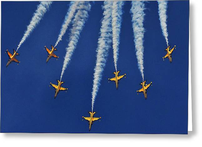 Greeting Card featuring the photograph Republic Of Korea Air Force Black Eagles by Science Source