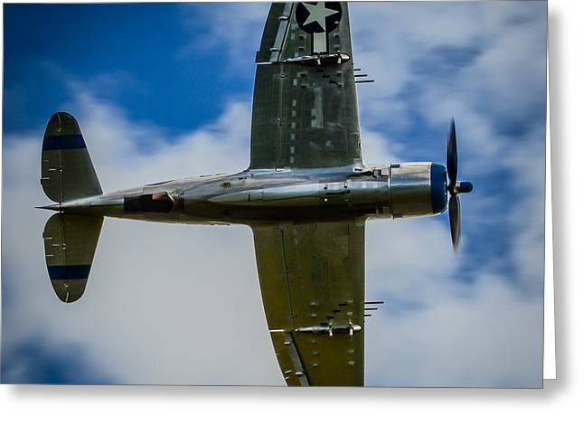 Heritage Foundation Greeting Cards - REPUBLIC P-47D THUNDERBOLT Warbird Fighter  Greeting Card by Puget  Exposure