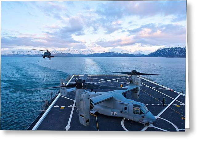 Mv Greeting Cards - Rescue Operations Greeting Card by Staff Sgt Zachary Wolf