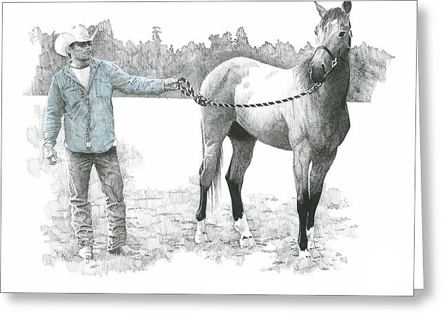 Rescue Drawings Greeting Cards - Rescued Greeting Card by Paul Shafranski