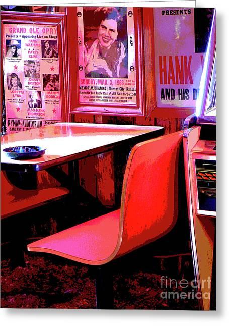 Saloons Greeting Cards - Reserved Seating Greeting Card by Joe Jake Pratt