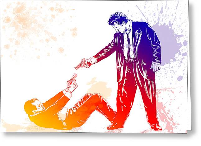 Reservoir Dogs Greeting Cards - Reservoir dogs  Greeting Card by Chris Smith