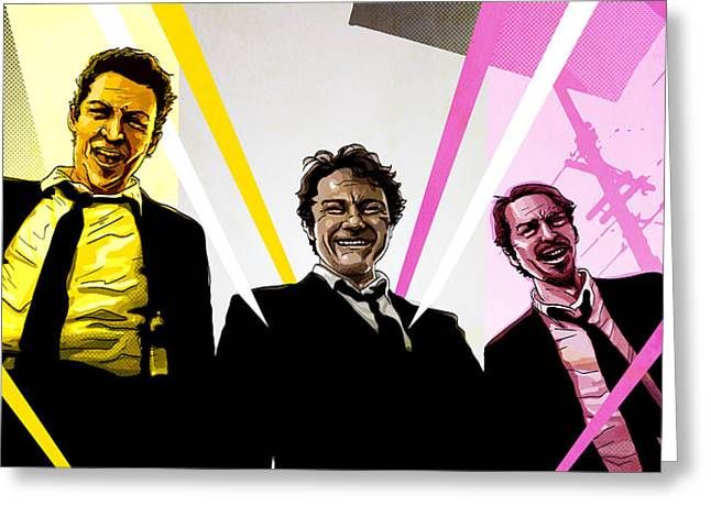 Dogs Digital Art Greeting Cards - Reservoir Dogs Greeting Card by Jeremy Scott