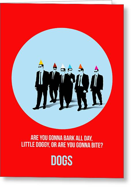 Shows Greeting Cards - Reservoir Dogs Poster 1 Greeting Card by Naxart Studio