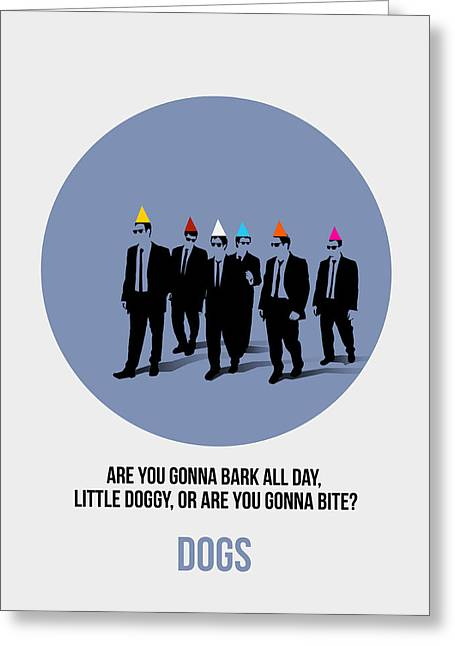 Shows Greeting Cards - Reservoir Dogs Poster  Greeting Card by Naxart Studio