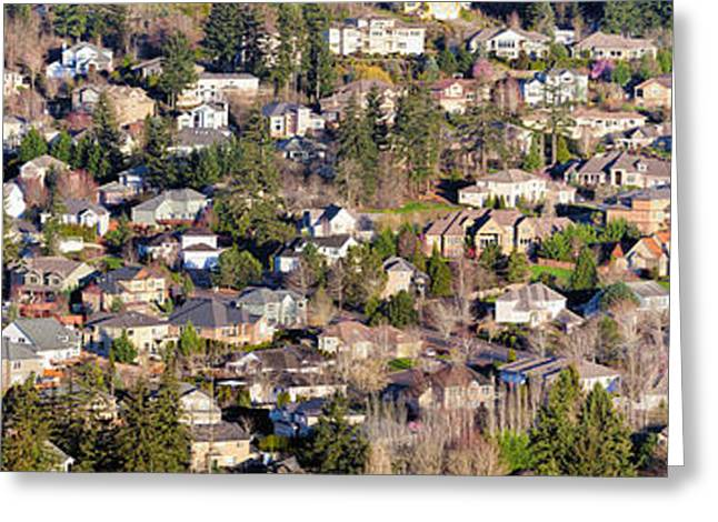 Division Greeting Cards - Residential Homes in North American Suburbs Greeting Card by Jpldesigns