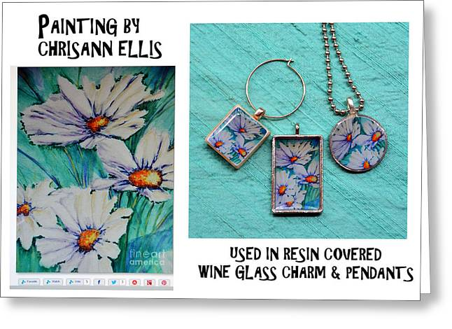 Colorful Jewelry Greeting Cards - Resin Jewelry using Artwork by Chrisann Ellis  Greeting Card by Carla Parris