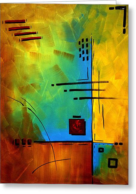 Licensor Greeting Cards - Resonating by MADART Greeting Card by Megan Duncanson
