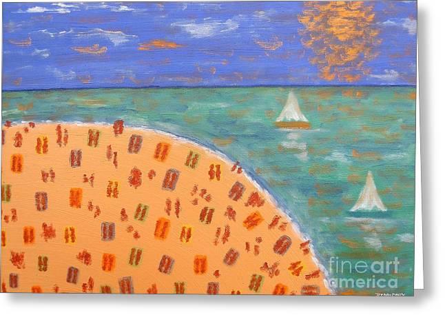 Sunbathing Greeting Cards - Resort Greeting Card by Patrick J Murphy