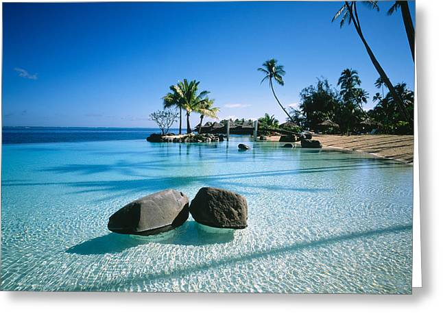 Pacific Islands Greeting Cards - Resort Tahiti French Polynesia Greeting Card by Panoramic Images